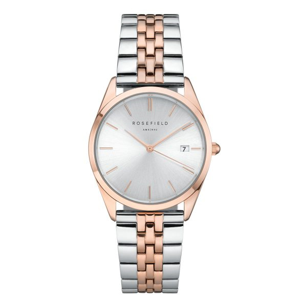 The Ace Silver Sunray Silver Rose Gold 33mm
