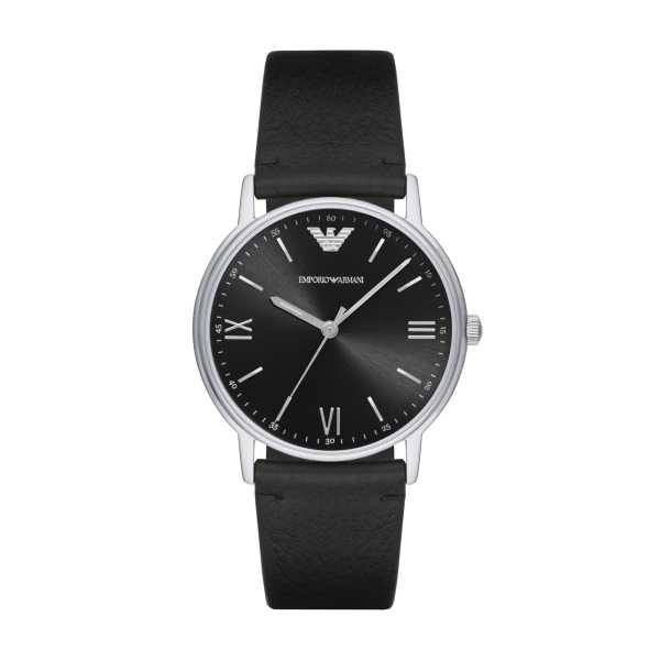 Man Three Hands Leather Watch (AR11013)