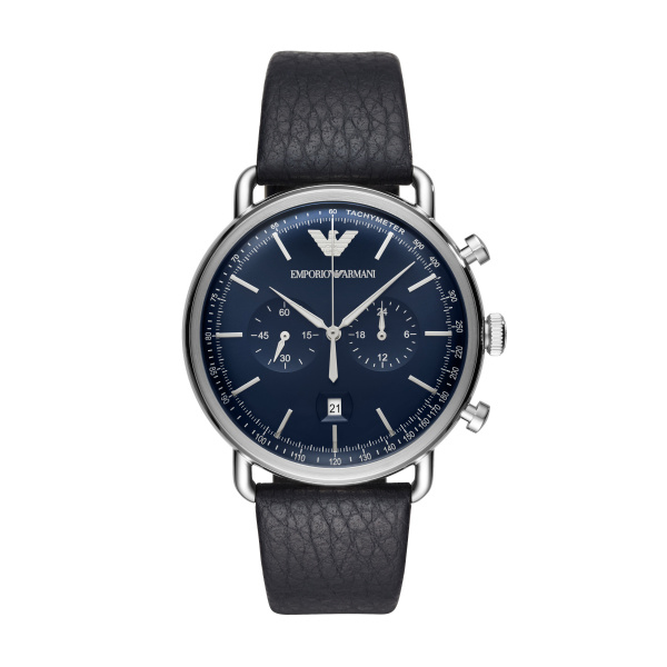 Man Leather Chronograph (AR11105)