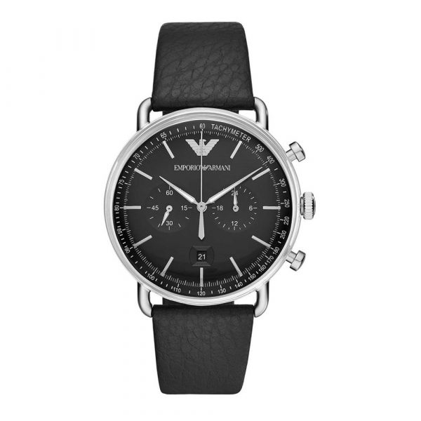 Man Leather Chronograph (AR11143)
