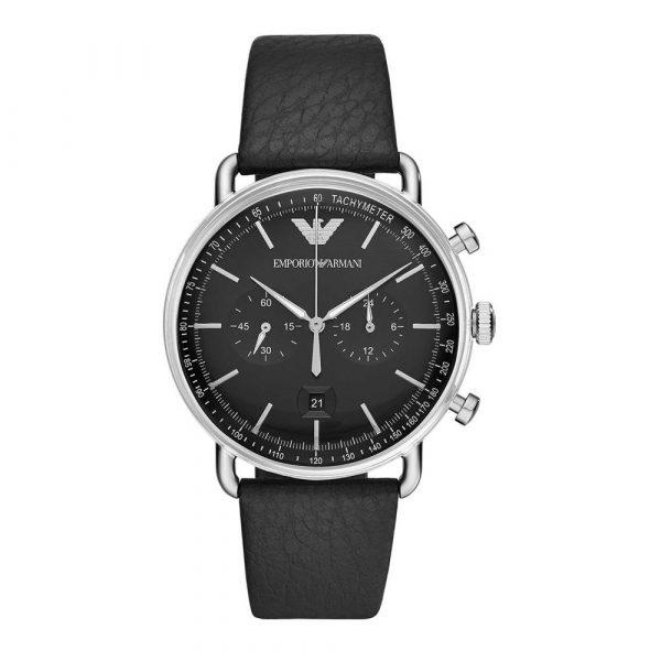 Man Leather Chronograph (AR11143)