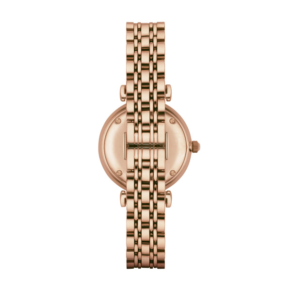 Women's Rose-Gold-Plated Analogue Watch with Rhinestones (AR1909)