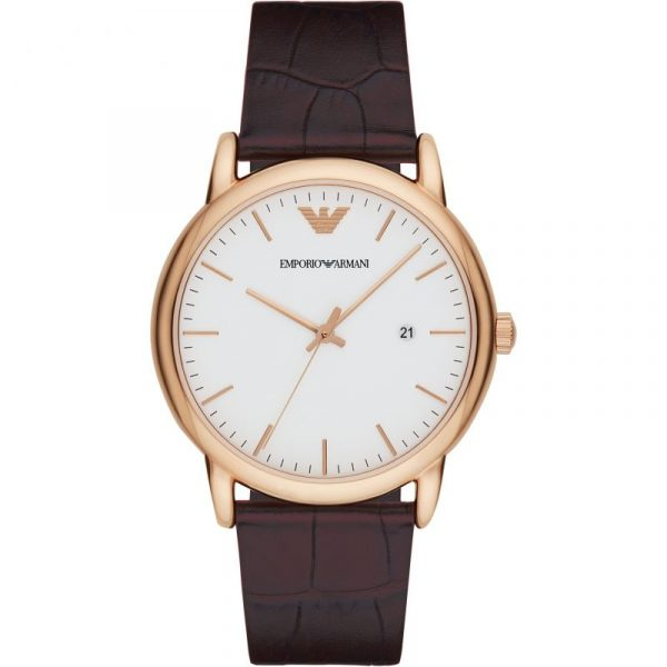 Man Three-Hand Leather Watch (AR2502)