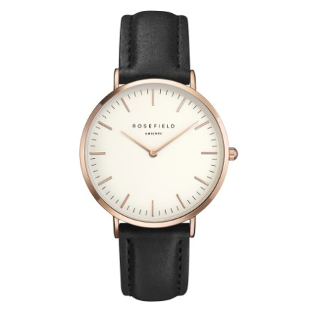 The Bowery White Black Rose Gold 38mm