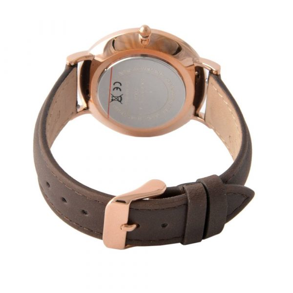 The Bowery White Brown Rose Gold 38mm