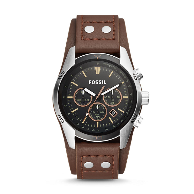 Coachman Chronograph Brown Leather Watch