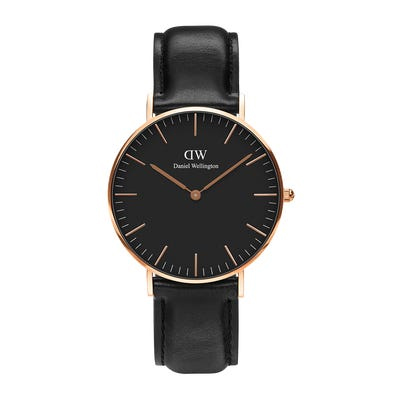 Classic Sheffield 36mm Black and Rose Gold