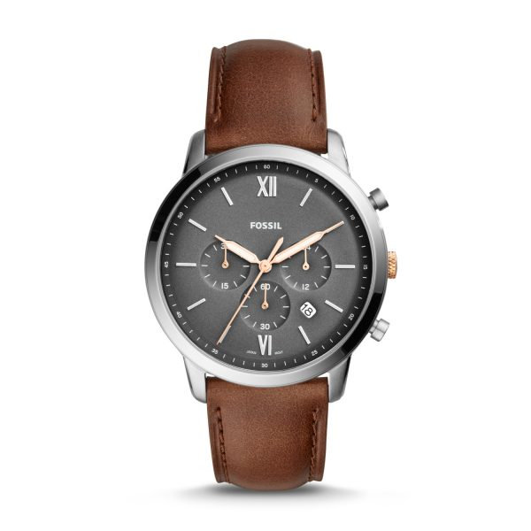 Neutra Chronograph Light Brown Leather Watch