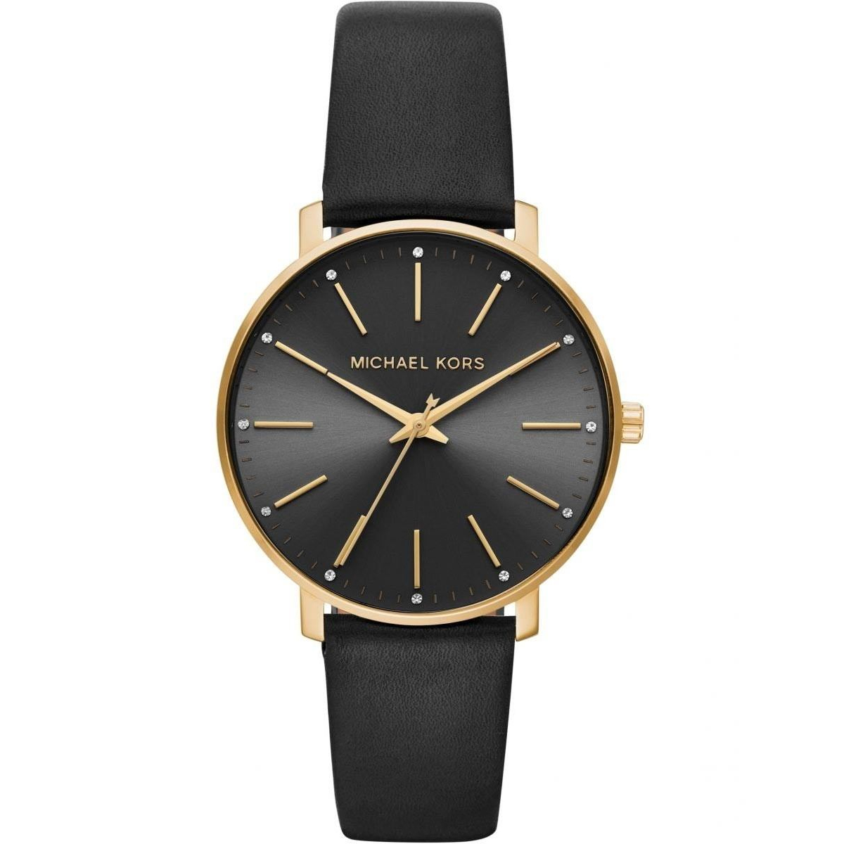 Pyper Gold-Tone and Leather Watch