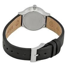 Freja Black Leather Watch