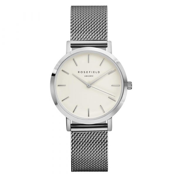 The Tribeca White Silver 33mm