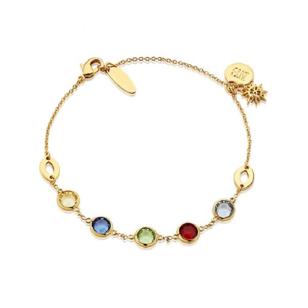Amy Bracelet with Coloured Stones (BL014)