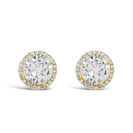 Gold Stud Earrings (E2055GL)