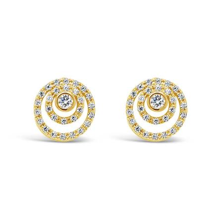 Gold Stud Earrings (E2105GL)