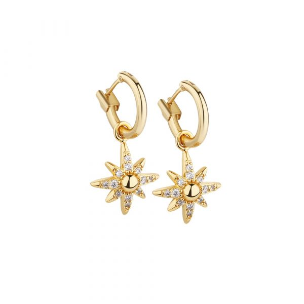 Amy Huberman Star Earrings with Clear Stones (EO22)