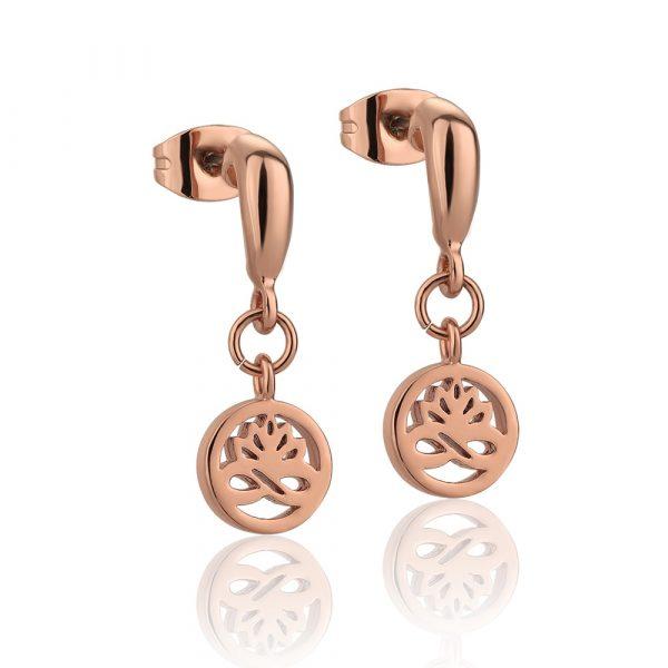 Rose Gold Plated Drop Earrings (EOJ106RG)