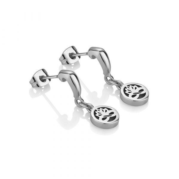 Silver Plated Drop Earrings (EOJ106SR)
