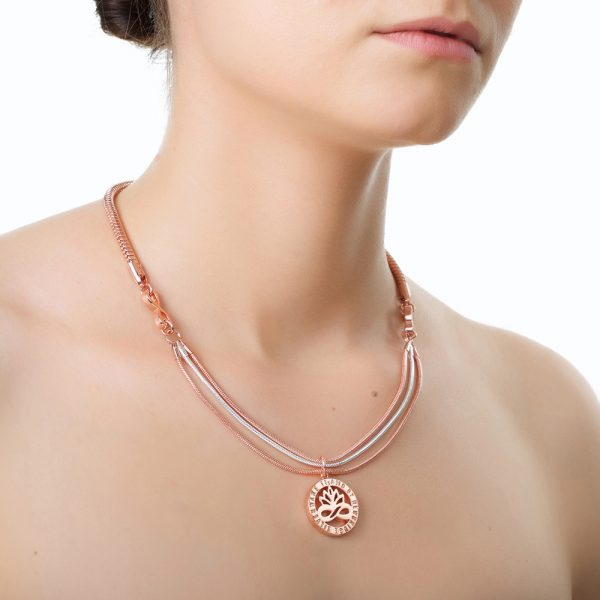 Rose Gold and Silver Plated Pendant (EOJ107)