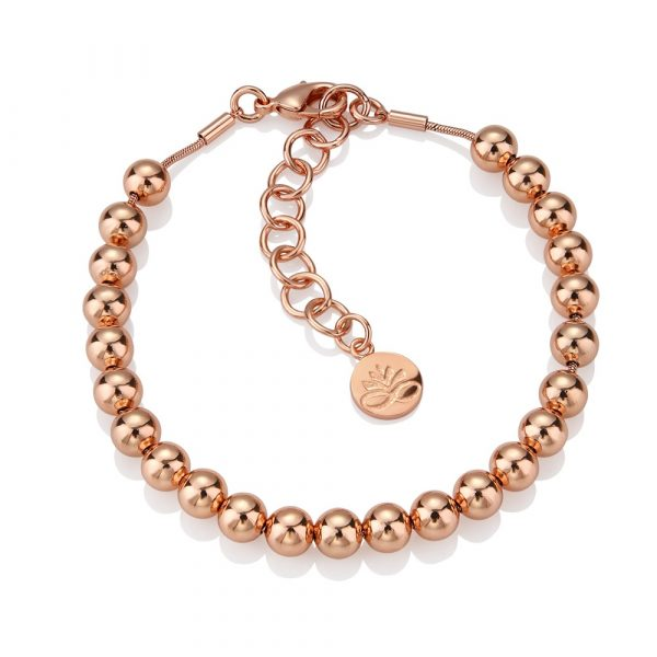 Rose Gold Plated Small Beaded Bracelet (EOJ109RG)