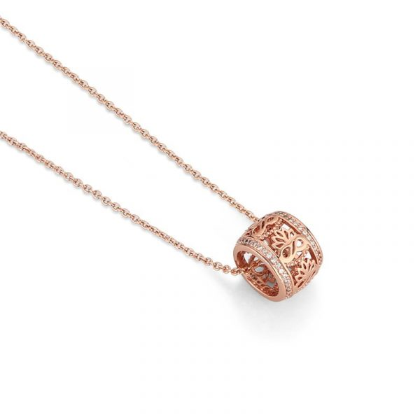 Rose Gold Plated Pendant with Clear Stones ( EOJ201RG)
