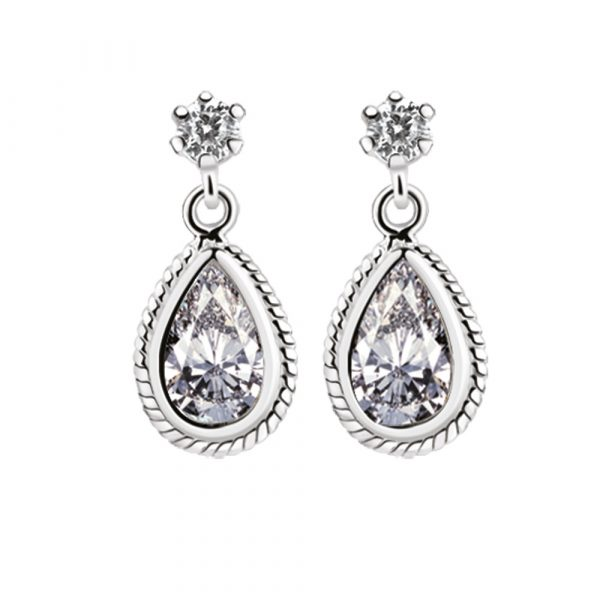 Earrings with Clear Stones (ER403C)