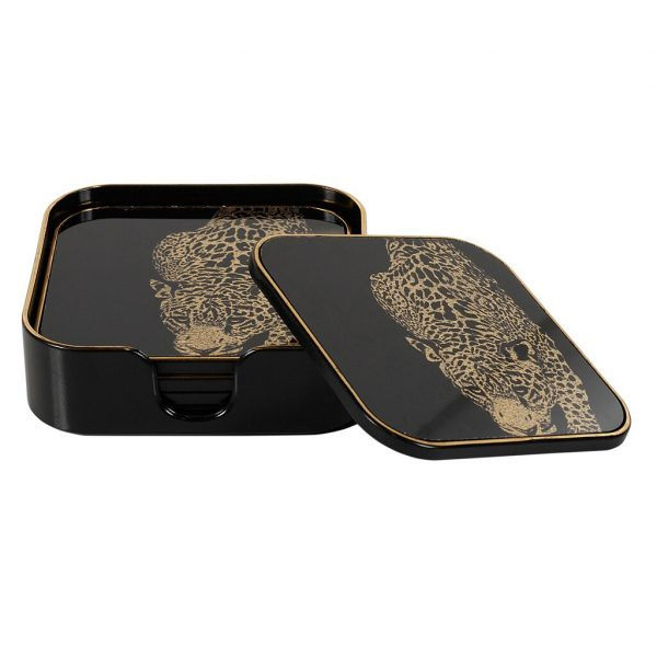 Leopard Coasters Set/5 (FCH026)