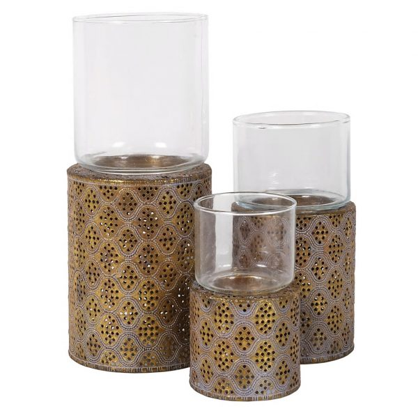 Hazel Candle Holders Set/3 (FUZ048)