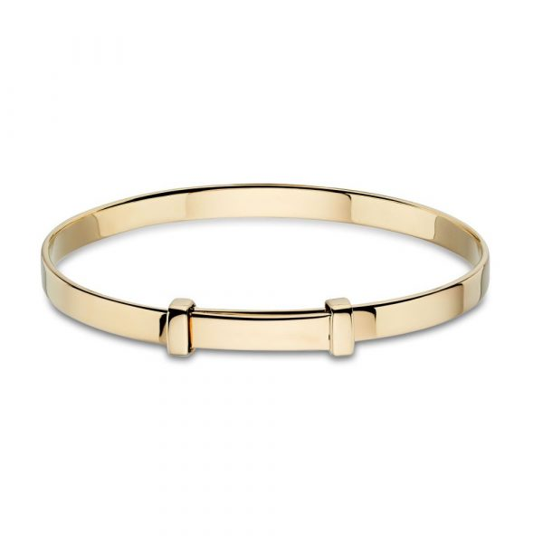 Flores Gold Plated Christening Baby Bangle (LSB0034)