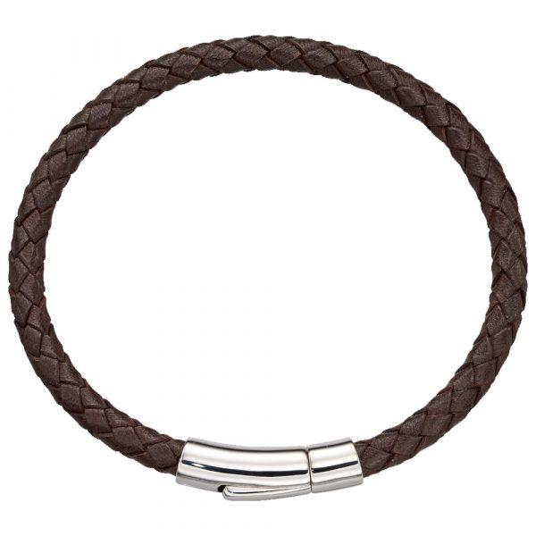 Dan Mens Brown Leather Bracelet (LSB0222)