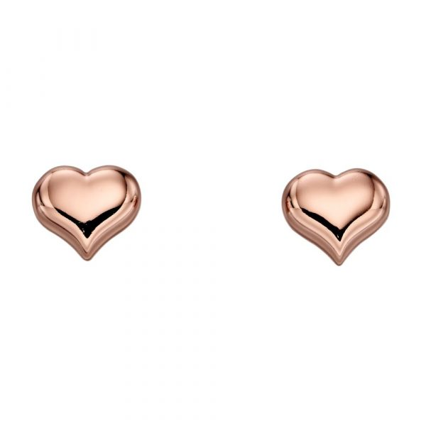 Emily Rose Gold Heart Studs (LSE0151)