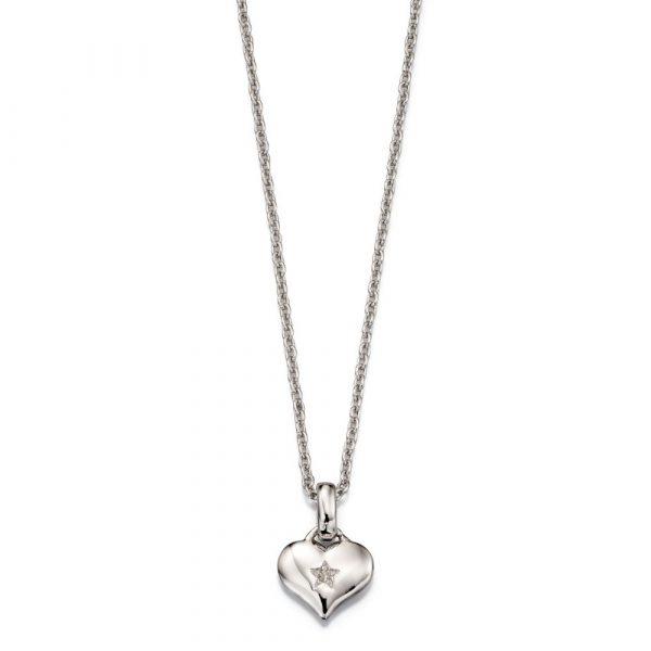 Bella Diamond Heart Pendant and Chain (LSN0010)