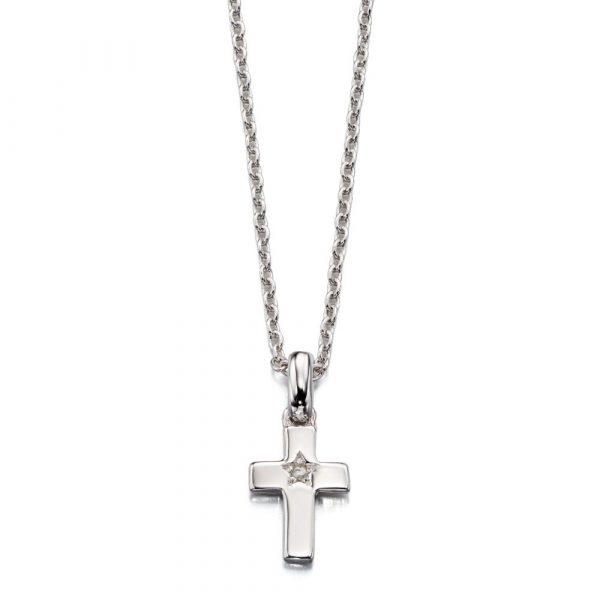 Grace Diamond Cross Pendant and Chain (LSN0011)