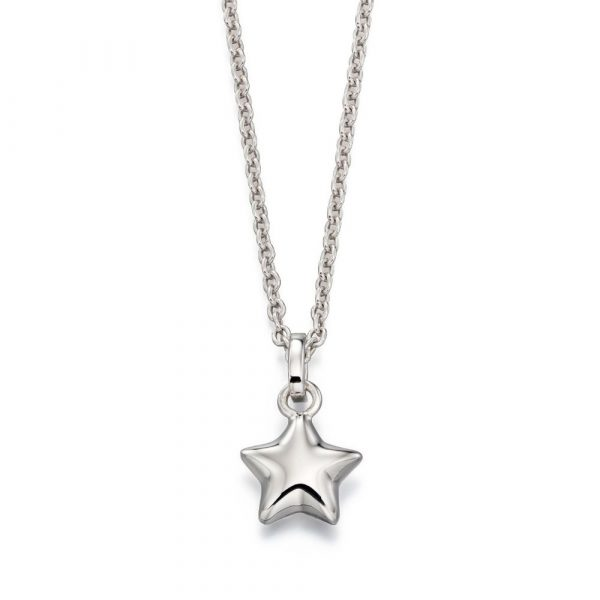 Eva Plain Small Star Pendant and Chain (LSN0021)
