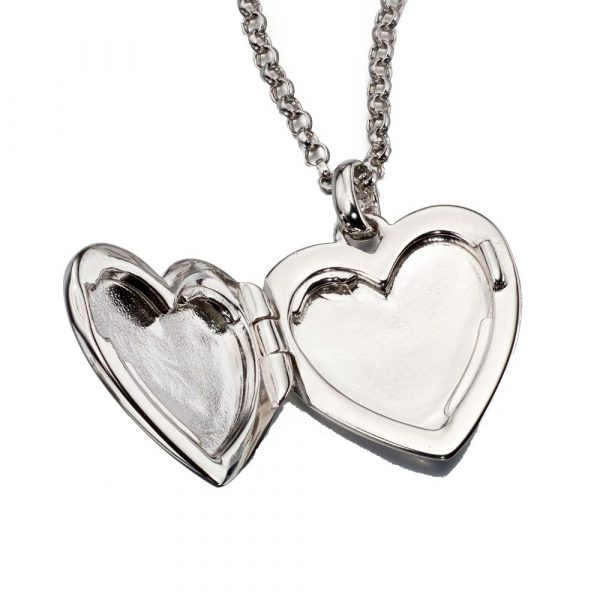 Olivia Plain Medium Heart Locket and Chain (LSN0023)