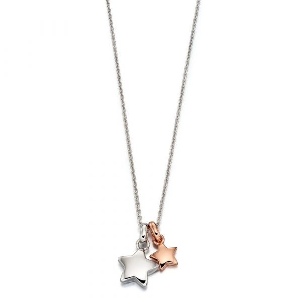 Suki Rose Gold Plated Double Star Necklace (LSN0120)