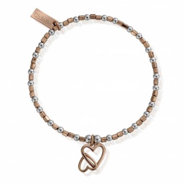Interlocking Love Heart Bracelet (MBCFB573)