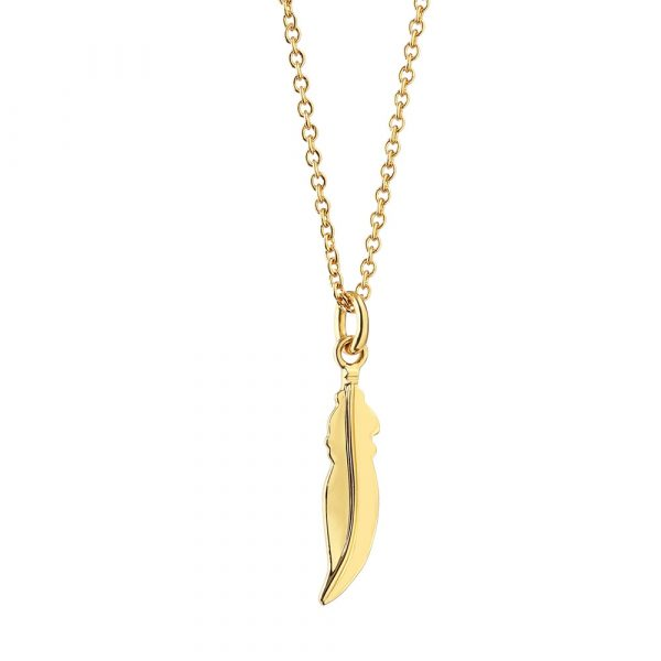 Amy Pendant with Feather (P3001FR)
