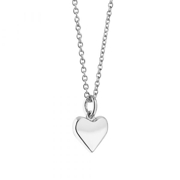 Amy Silver Plated Pendant with Heart (P3001HTSR)