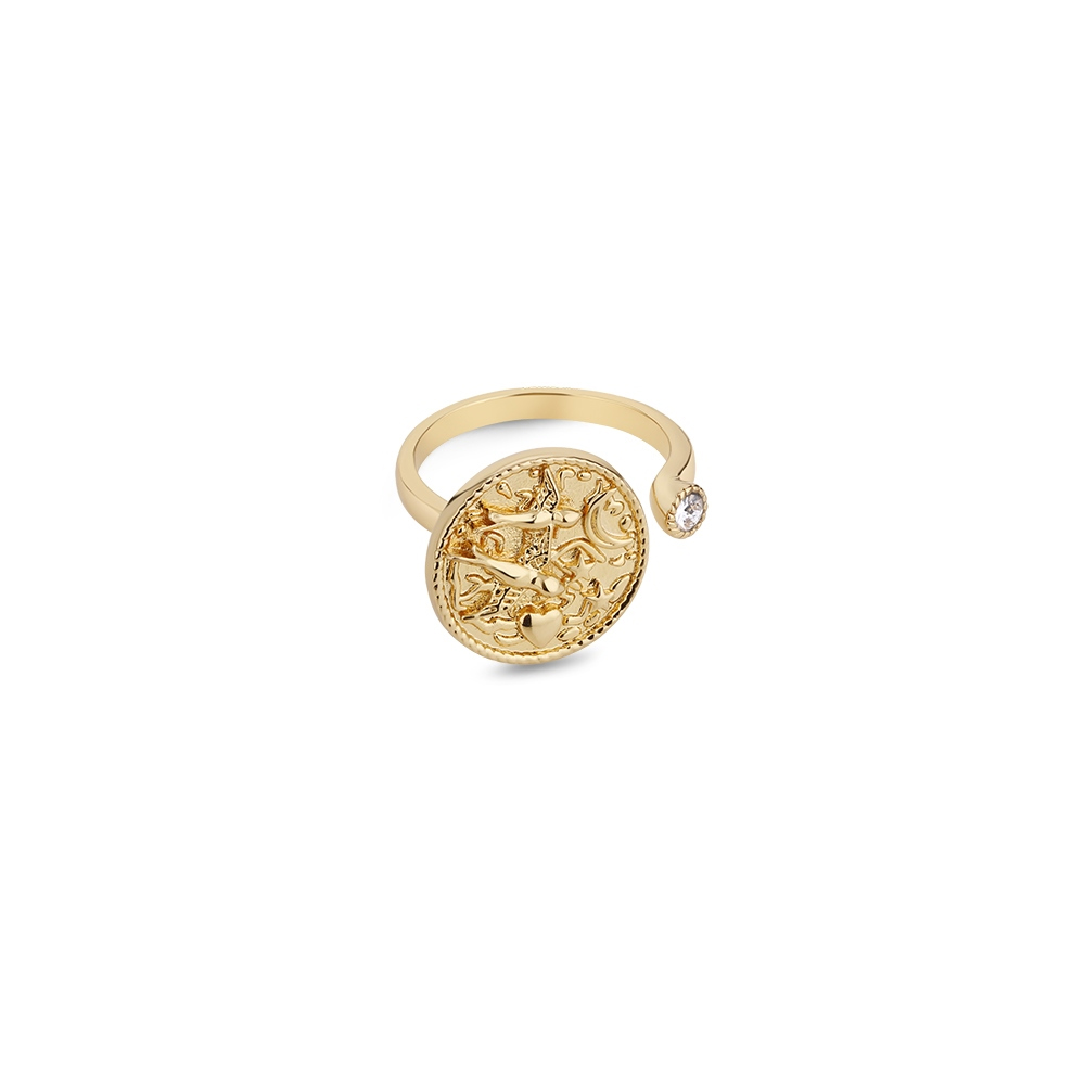 Amy Ring with Clear Stone (R0928)