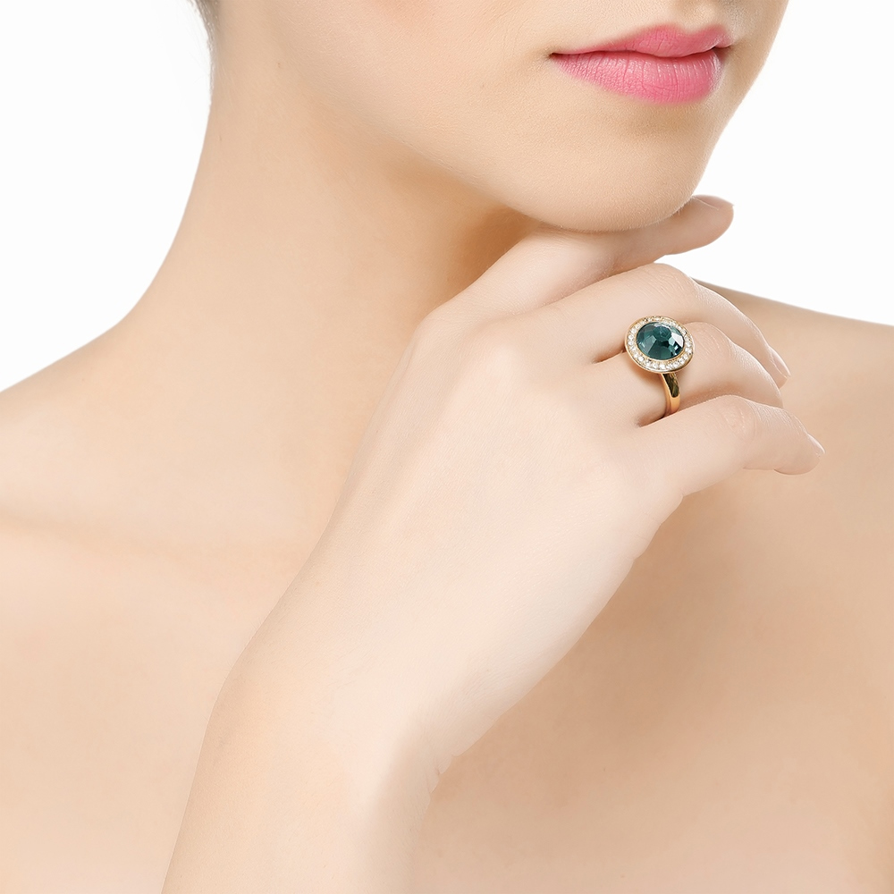 Ring with Montana Coloured Stone (R1035G)