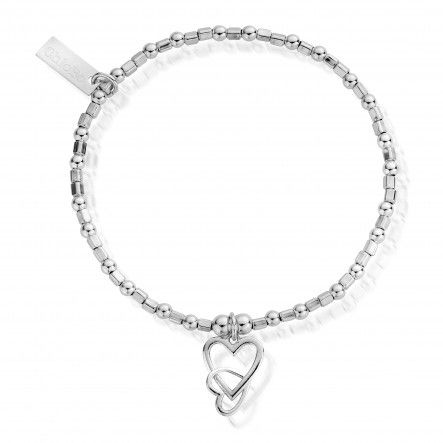Mini Cube Interlocking Love Heart Bracelet (SBCFB572)