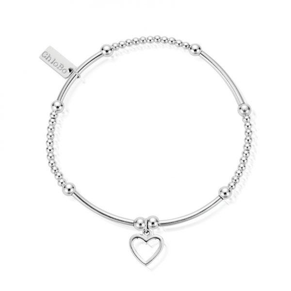 Cute Mini Open Heart Bracelet (SBCM007)