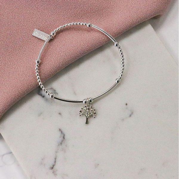 Cute Mini Heart Tree of Life Bracelet (SBCM690)