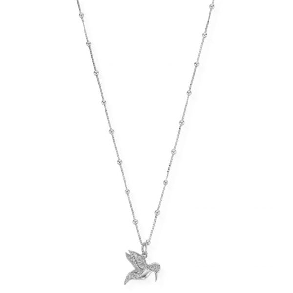 Bobble Chain Hummingbird Necklace (SNBB670)