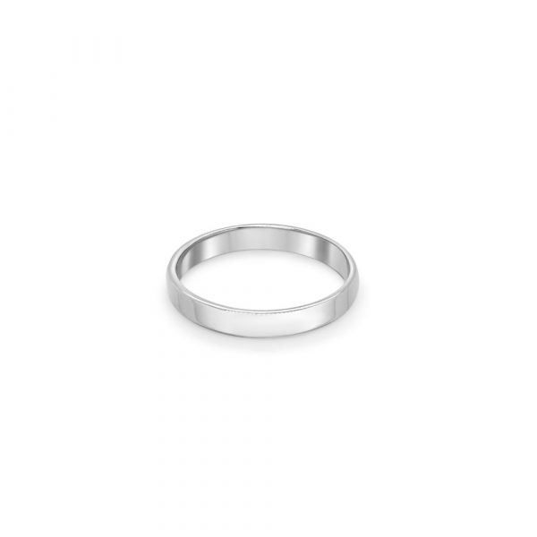 9ct White Gold Wedding Ring