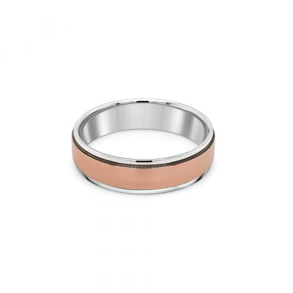 Palladium 500 9ct Gold Wedding Ring