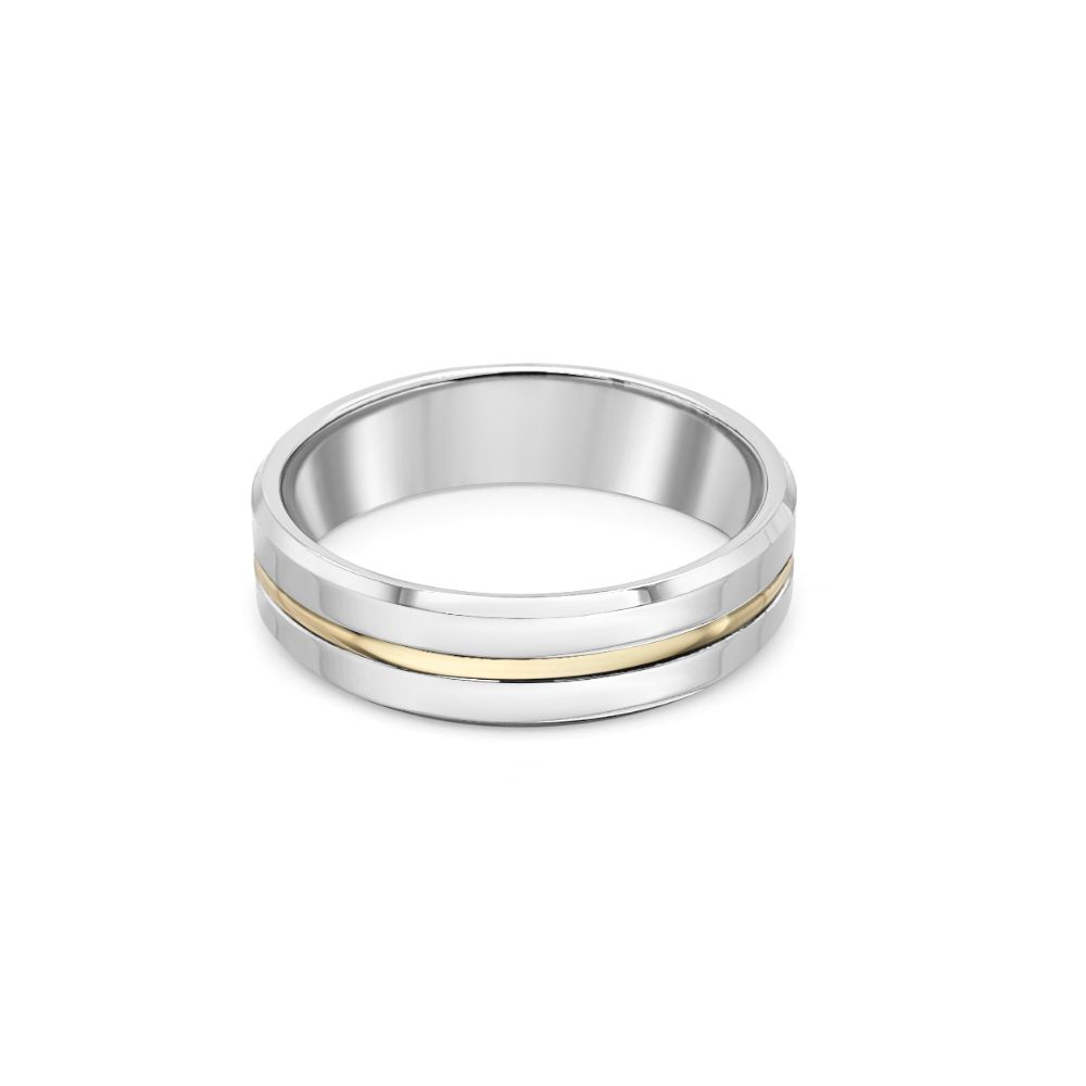 Palladium 950 9ct Gold Wedding Ring
