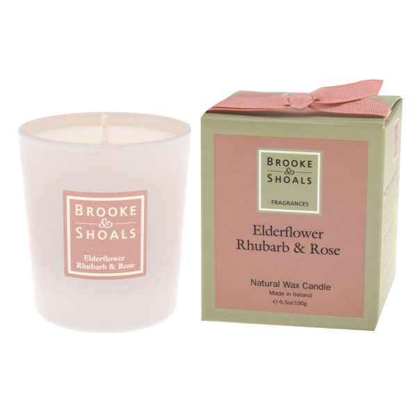 Scented Candle - Elderflower, Rhubarb and Rose