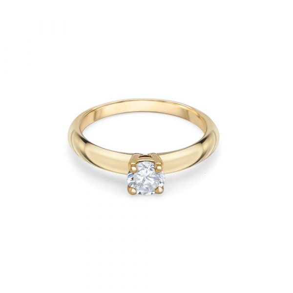 18ct Yellow Gold Solitaire Engagement Ring