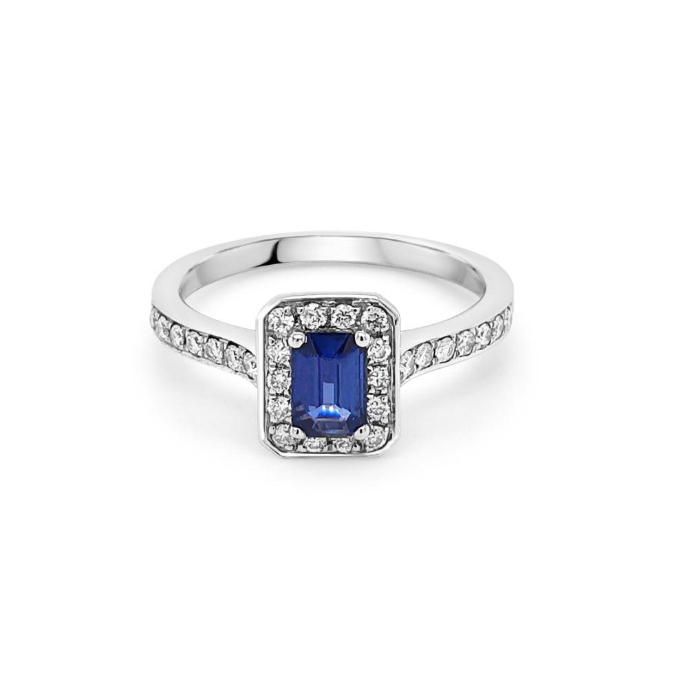 18ct White Gold Sapphire Dress Ring